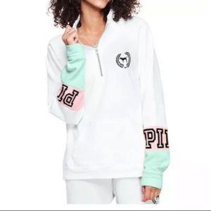 Pink V victoria's Secret Quarter Zip Sweatshirt🌴